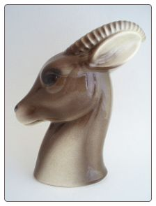 Royal Copley GAZELLE Ceramic Head Vase Planter #803