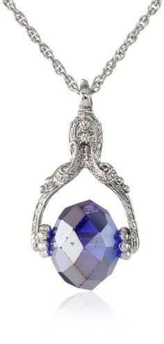 "1928 Jewelry Silver-Tone Blue Rotating Crystal Necklace, 30"" 1928 Jewelry,http://www.amazon.com/dp/B009CA07ZW/ref=cm_sw_r_pi_dp_9Eicsb0BNWSMXZP4"