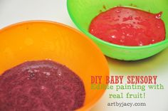 DIY Baby Sensory: Edible Painting with Real Fruit! from @Jacy Pulford