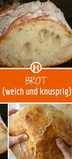 Bread (soft and crispy)- Brot (weich und knusprig) Ingredients: 500 g wheat flour Type 405 cube yeast or 1 pck dry yeast tsp honey 330 ml water, lukewarm tsp salt some pepper, white flour to work - Mini Pizza Recipes, Healthy Pizza Recipes, Easy Bread Recipes, Mexican Food Recipes, Baguette Recipe, Bear Cakes, Pampered Chef, Dry Yeast, Easy Meals