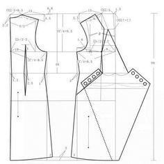 Шитье | простые выкройки | простые вещи Dress Making Patterns, Pattern Making, Sewing Hacks, Sewing Tutorials, Clothing Patterns, Sewing Patterns, Sewing Sleeves, Modelista, Japanese Sewing