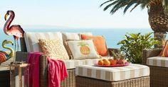 Sunny Orange & Yellow Outdoor Decor Ideas