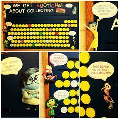 """Box Tops """"Inside Out"""" bulletin board. #boxtopsboard #btfe #insideout"""