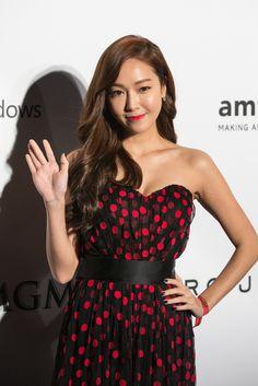 Jessica Jung at amFAR's gala in Hong Kong. [Photo by Joyce Yung]