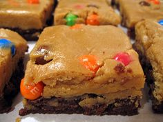 Peanut Butter Cookie Dough Brownies. I would eat that so hard right now.