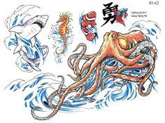 octopus tattoo Flash Art, Tattoo Blog, Octopus, Line Art, Shark, Art Drawings, Tattoo Designs, Horses, Image