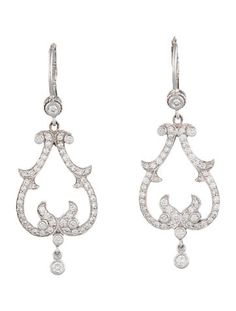 Penny Preville 1.24ctw Diamond Chandelier Earrings