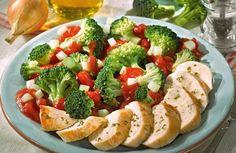 Hähnchenfilet auf Gemüse