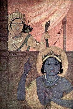 """""""Yama and Nachiketa"""" by Nandalal Bose from """"Myths of the Hindus & Buddhists"""" via Wikipedia"""