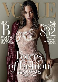 Third time's a charm. . . Beyoncé on the cover of  V o g u e