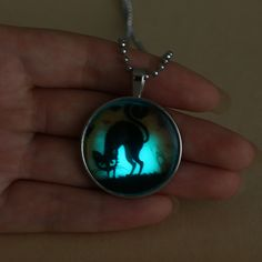 Cat Lovers Glow in The Dark Necklace Click Additional Information for full product information The Darkest, Cat Lovers, Glow, Pendant Necklace, Drop Earrings, Cats, Jewelry, Gatos, Jewlery