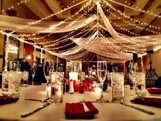Holiday Themed Wedding - Hilton Santa Fe Buffalo Thunder #santafe #holiday #sparkle #wedding