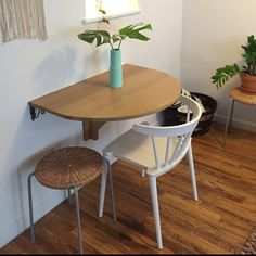 Unique Wall Mounted Drop Leaf Tables