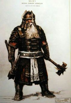"""Concept art for Balin in armor from """"The Hobbit : The Battle of the Five Armies"""" (2014)."""