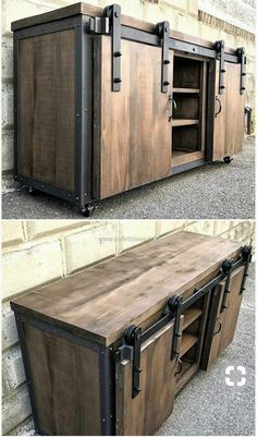 Here were old shipping pallets in a rustic design for renovation . - Wood DIY ideas - Here old shipping pallets in rustic construction for renovation …, -