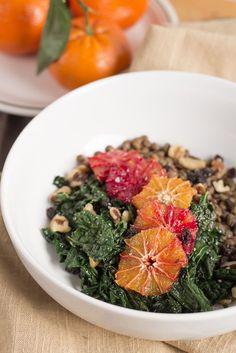 Blood Orange, Kale & Lentil Salad | PDXfoodlove