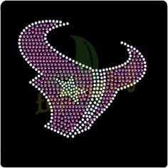 Crystal New Pink Houston Texans Rhinestone Motif NFL Team Logo Transfer Designs