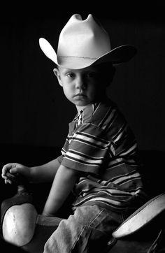 Portrait   People   Black & White Photography   Nancy Nolan Photography   Cowboy Kid