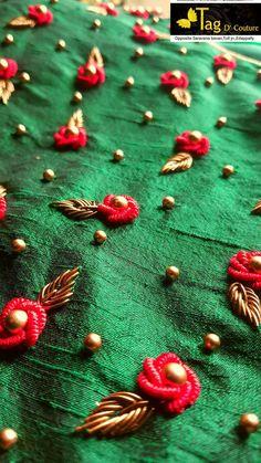 Вышивка рококо - декор одежды вышивкой и бусинами #вышивка #бусины #рококо #вышивание #рукоделие #декор