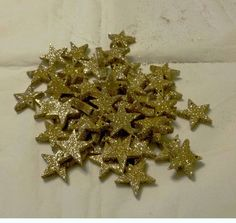 100 x 1 inch gold glitter stars Christmas decoration crafts