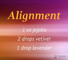 DIY Alignment Oil: Find your center, reconnect, & restore equilibrium. | www.tazekaaromatherapy.com