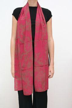 """22""""x90"""" silk crepe de chine $145"""