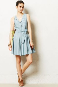 Chambray Circle Dress - anthropologie.com