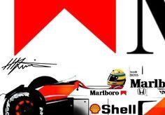 Ayrton Senna su McLaren-Honda Mclaren Sports Car, Mclaren F1, Sport Cars, Race Cars, F1 Motorsport, San Marino Grand Prix, Car Posters, Car Videos, Car And Driver