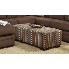 Chelsea Home Furniture Northborough Ottoman - Dabomb Java - 474165-O-DJ