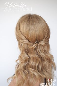 How To: Easy half-up twist hairstyle tutorial