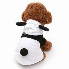 Gatos / Cães Fantasias / Camisola com Capuz Preto / Branco Roupas para Cães Inverno / Primavera/Outono Animal Fofo / Fantasias - BRL R$21,26