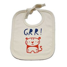 'Grr' Tiger Organic Cotton Baby Bib - essential baby gifts