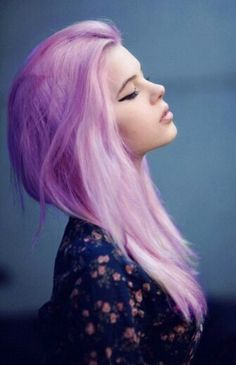 Puple Pastel Dyied Hair