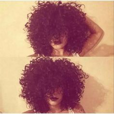 Love this curly afro Amandadash on ig ❤ liked on Polyvore