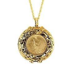Great gift for mom or grandma...coin locket #QVCgifts