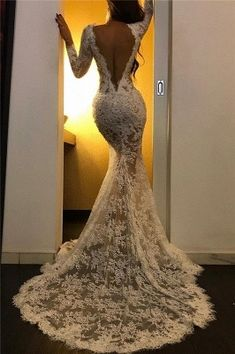 Lace Long Sleeve Prom Dresses with Slit Long Sleeve Evening Dresses, Prom Dresses Long With Sleeves, Evening Gowns, Long Dresses, Cheap Formal Dresses, Dresses Elegant, Pretty Dresses, Casual Dresses, Awesome Dresses
