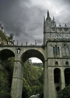 The Sanctuary of Our Lady of Las Lajas, or the Las Lajas Cathedral  in Colombia, was built in 1916 on a site where, according to local legend, the Virgin Mary appeared.