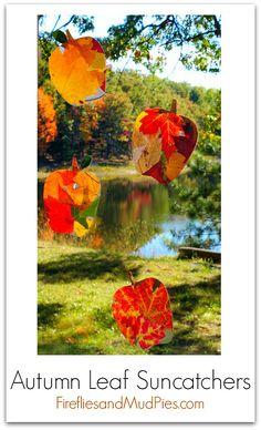Fall Leaf Suncatchers