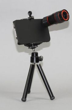 Yamamoto Industries 8x Telephoto Lens Kit for iPhone 4/4S Black