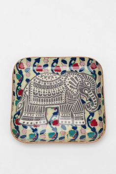 Magical Thinking Elephant Stamp Catch-All Dish - Urban Outfitters