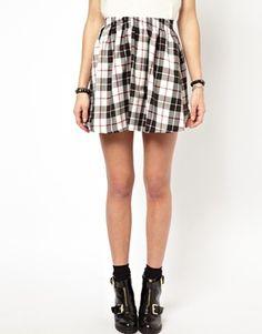daisy street  tartan skirt