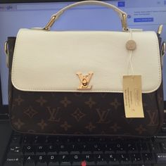 LV monogram with white flap and handles BNWT! Does not come with dust bag or box. LV monogram, handle, shoulder strap and flap is off white color. Price reflect authenticity. Additional pics upon request. ️️ accepted Bags Crossbody Bags