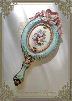 Зеркало ручное-`Девица`,для дома ручной работы.Антонова Ирина.Ярмарка Мастеров.