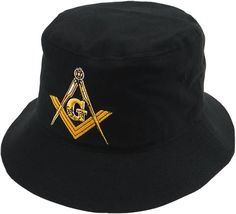 4652e8109396f Knights Templar Mason Baseball Cap Freemason Adjustable Black Lodge Hat  Mens. Mason Bucket Hat Black with Masonic ...