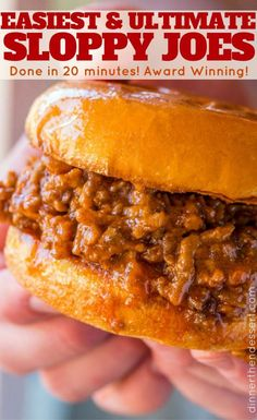 Classic Sloppy Joes in just 20 minutes with a rich homemade tomato gravy, bell peppers and melted cheese on hamburger buns. Classic Sloppy Joes in just 20 minutes with a rich homemade tomato gravy, bell peppers and melted cheese on hamburger buns. Sloppy Joe Recipe Pioneer Woman, Best Sloppy Joe Recipe, Homemade Sloppy Joe Sauce, Simple Sloppy Joe Recipe, Sloppy Joe Recipe With Tomato Soup, Sloppy Joe Recipe Crock Pot, Homemade Sloppy Joe Recipe Brown Sugar, Rachel Ray Sloppy Joe Recipe, Sloppy Joe Recipe With Bbq Sauce