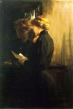 James Carroll Beckwith, La lettera (1910)