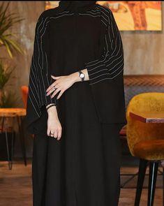 Niqab Fashion, Frock Fashion, Muslim Fashion, Fashion Outfits, Abaya Designs Latest, Mode Instagram, Modern Abaya, Black Abaya, Fashion Drawing Dresses