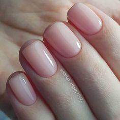 Nageldesign - Nail Art - Nagellack - Nail Polish - Nailart - Nails 50 best natural nail ideas and de Natural Nail Designs, Manicure E Pedicure, Nude Nails, White Nails, Coffin Nails, Acrylic Nails, Acrylic On Natural Nails, Shellac Toes, Short Natural Nails