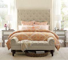 Love this whole room look (Penelope Organic Duvet Cover & Sham - Desert Rose)   Pottery Barn