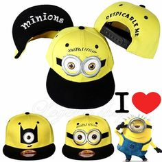 Despicable Me Daddy Thief minions hat baseball cap hip-hop snapback hat for men  women